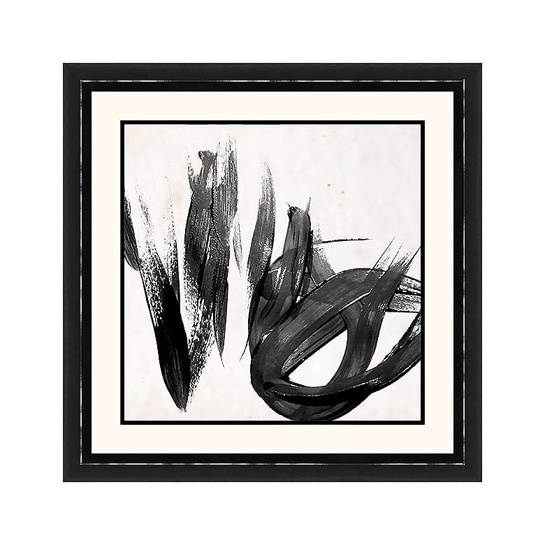 "Paint It Black I 25 1/2"" Square Framed Wall Art"