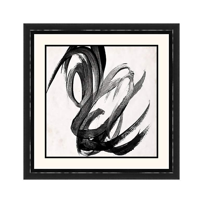 "Paint It Black II 25 1/2"" Square Framed Wall Art"