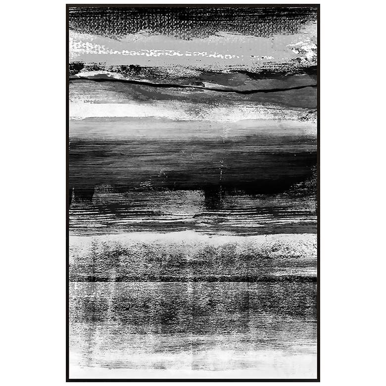 "Black and White Strokes I 30 1/2"" High Framed Wall Art"