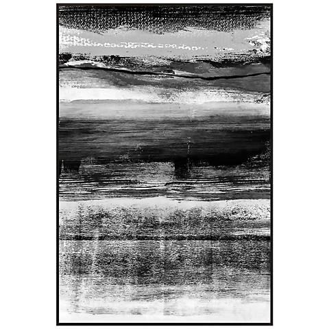 "Black and White Strokes I 30 1/2"" High Framed Wall Art"