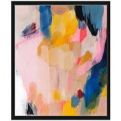 """Pink Lemonade II 25 3/4"""" High Framed Canvas Wall Art"""