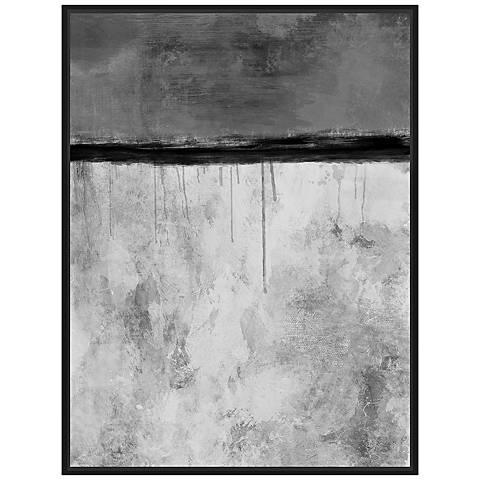 """Abstract Shades of Gray 40 1/2"""" High Canvas Wall Art"""