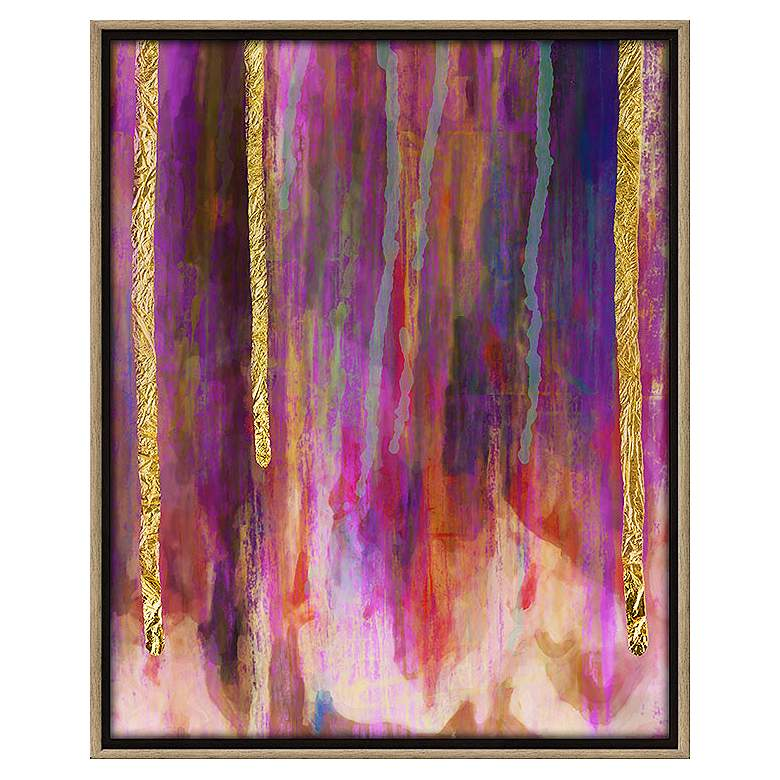"Paint Drips I 31 3/4"" High Abstract Canvas"