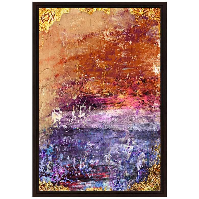 "Orange and Violet Grunge I 37 3/4"" High Canvas Wall Art"