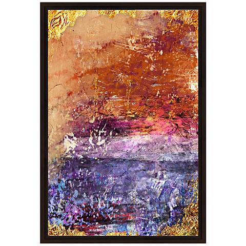 "Orange and Violet Grunge I 37 3/4"" High Canvas Wall Art"