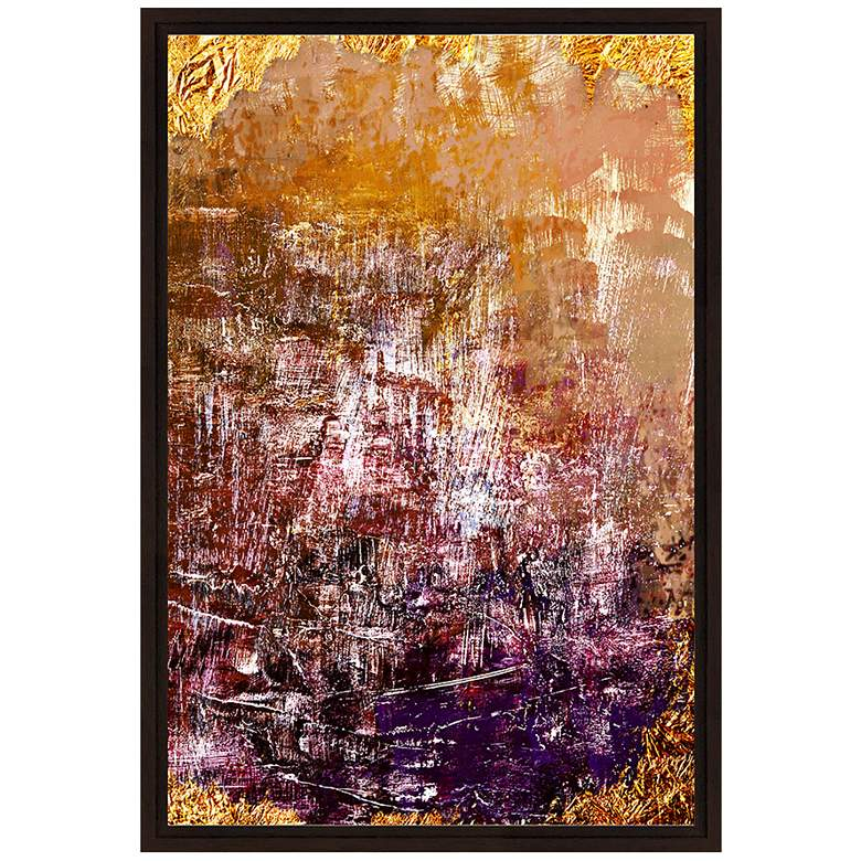 "Orange and Violet Grunge II 37 3/4"" High Canvas Wall Art"