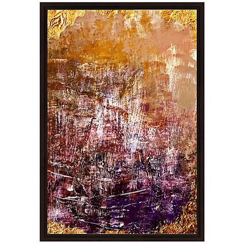 "Orange and Violet Grunge II 37 3/4"" High Canvas Wall Art"
