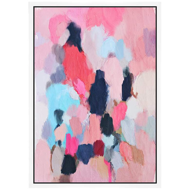 "Pink Contemporary I 37 3/4"" High Framed Canvas Wall Art"