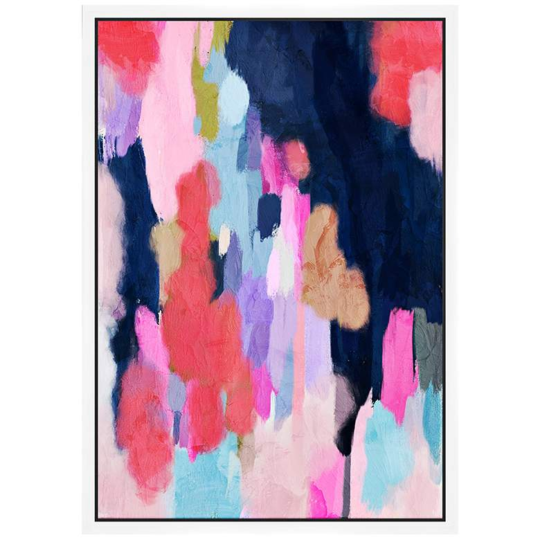 "Pink Contemporary II 37 3/4"" High Framed Canvas Wall Art"