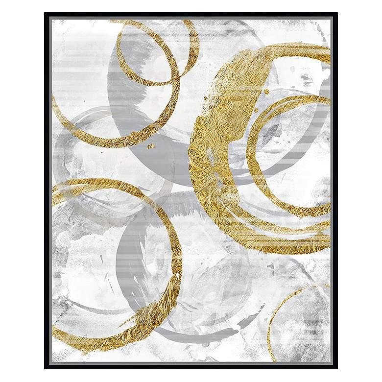 """Golden Circles I 37 3/4"""" High Framed Canvas Wall Art"""