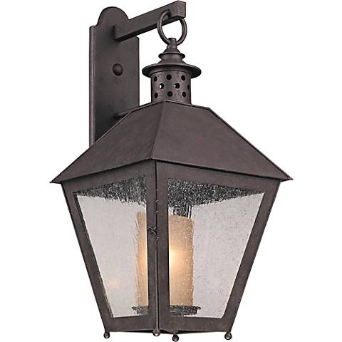 "Sagamore 26 1/2"" High Centennial Rust Outdoor Wall Light"