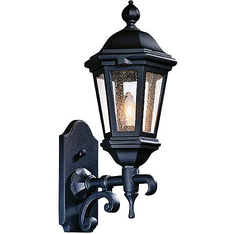 "Verona 18"" High Matte Black Outdoor Wall Light"