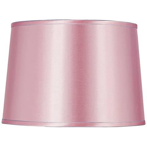 Sydnee Pale Pink Satin Drum Lamp Shade 14x16x11 (Spider)