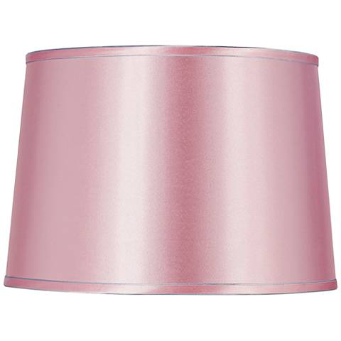 Sydnee Pale Pink Satin Drum Lamp Shade 14x16x11 Spider 8g333 Lamps Plus
