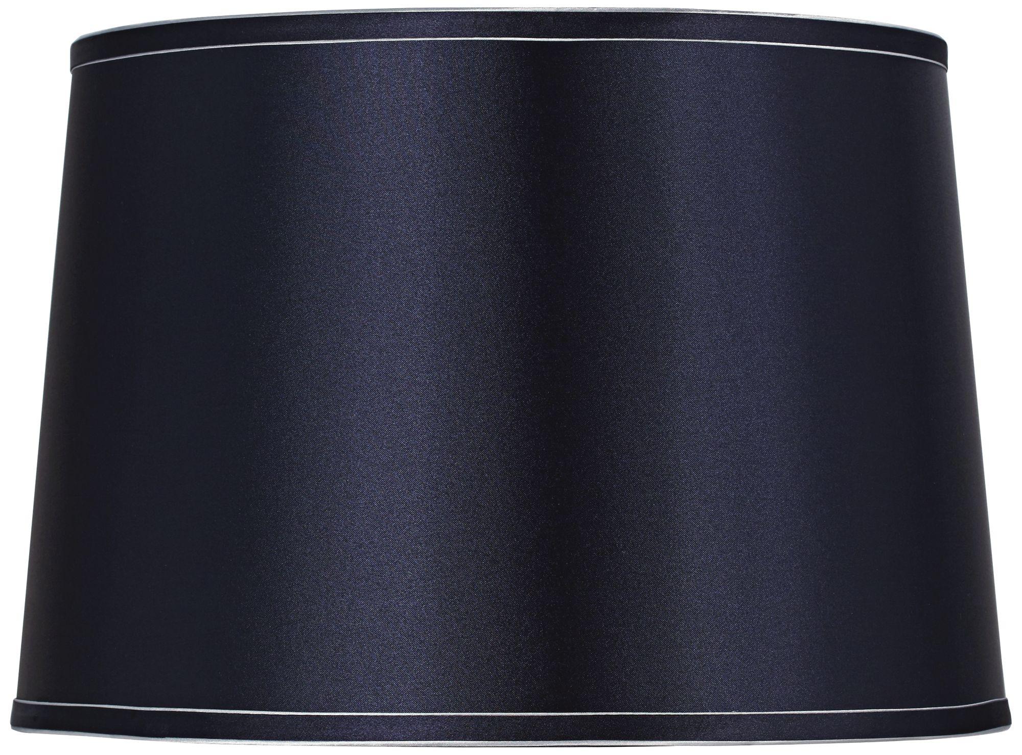 Attractive Sydnee Navy With Silver Trim Drum Shade 14x16x11 (Spider)