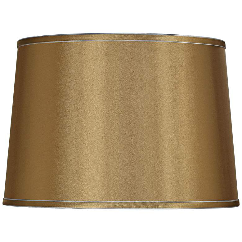 Sydnee Gold with Silver Trim Drum Shade 14x16x11