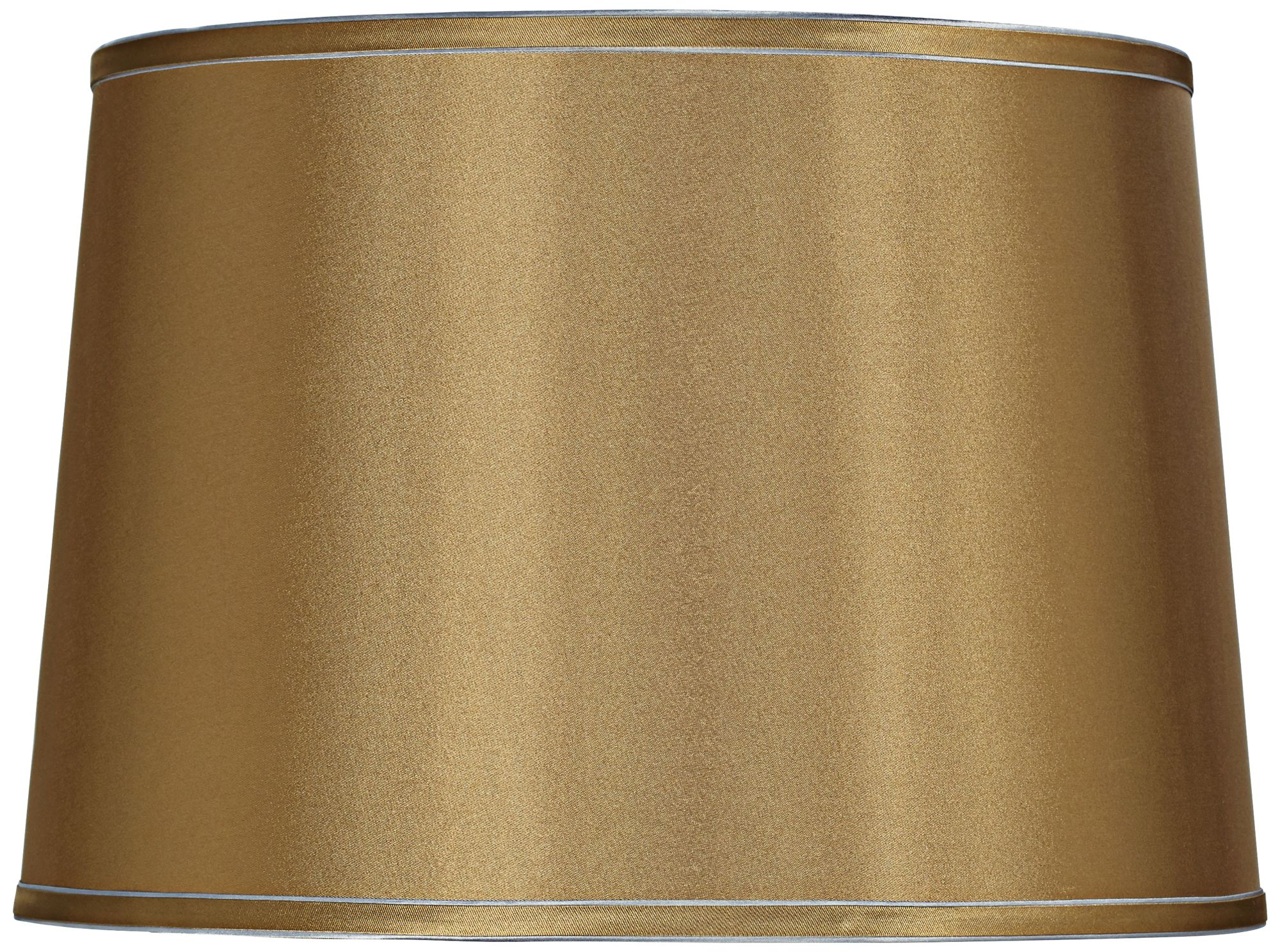 Wonderful Sydnee Gold With Silver Trim Drum Shade 14x16x11 (Spider)   #8G341 | Lamps  Plus