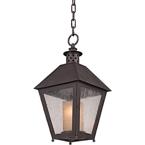 """Sagamore 20"""" High Centennial Rust Outdoor Hanging Light"""