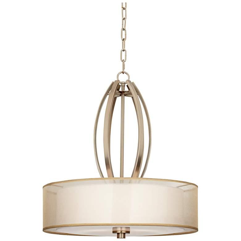 """Possini Euro Alecia 22 1/2"""" Wide French Gold Pendant Light"""