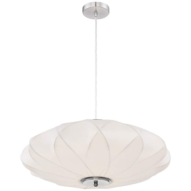 "Flower Cloud 22 1/2"" Wide Contemporary White Pendant"