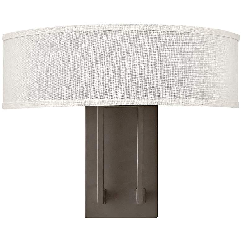 "Hampton 12"" High Buckeye Bronze Modern Wall Sconce"