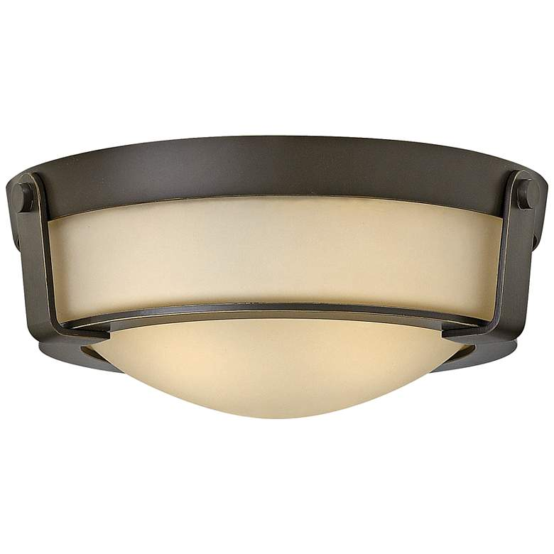 "Hinkley Hathaway 13""W Olde Bronze Amber Ceiling Light"