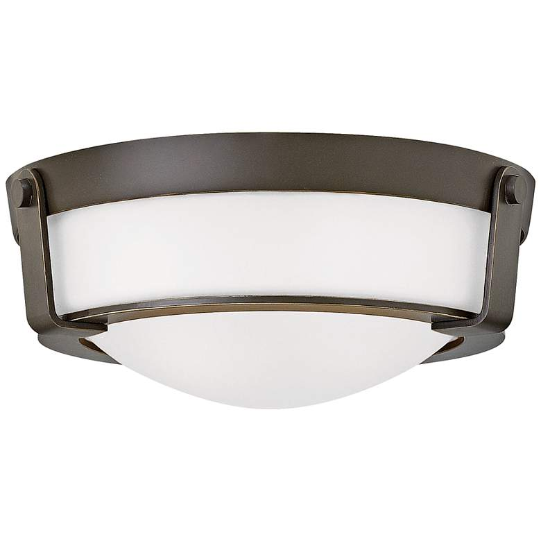 """Hinkley Hathaway 13""""W Olde Bronze Etched Ceiling Light"""