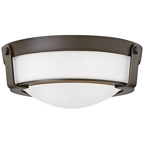 "Hinkley Hathaway 13""W Olde Bronze Etched Ceiling Light"