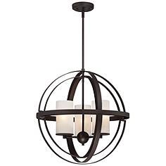 """Morris 21"""" Wide 3-Light Bronze Sphere Pendant Light"""