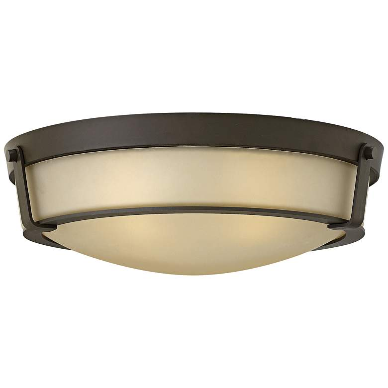 "Hinkley Hathaway 21 1/4""W Olde Bronze Amber Ceiling Light"