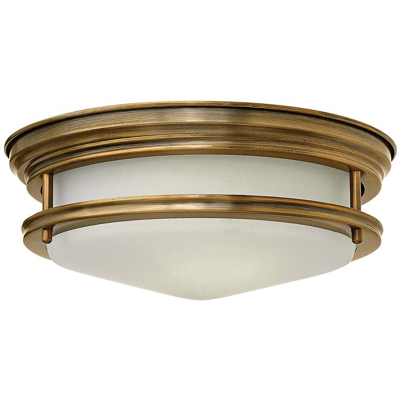 "Hinkley Hadley 12"" Wide Brushed Bronze Opal Ceiling Light"