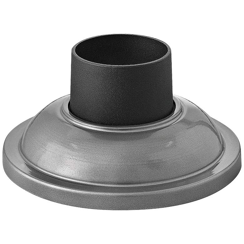 Signature Pier Mount Fitter - Smooth Base in Hematite Silver