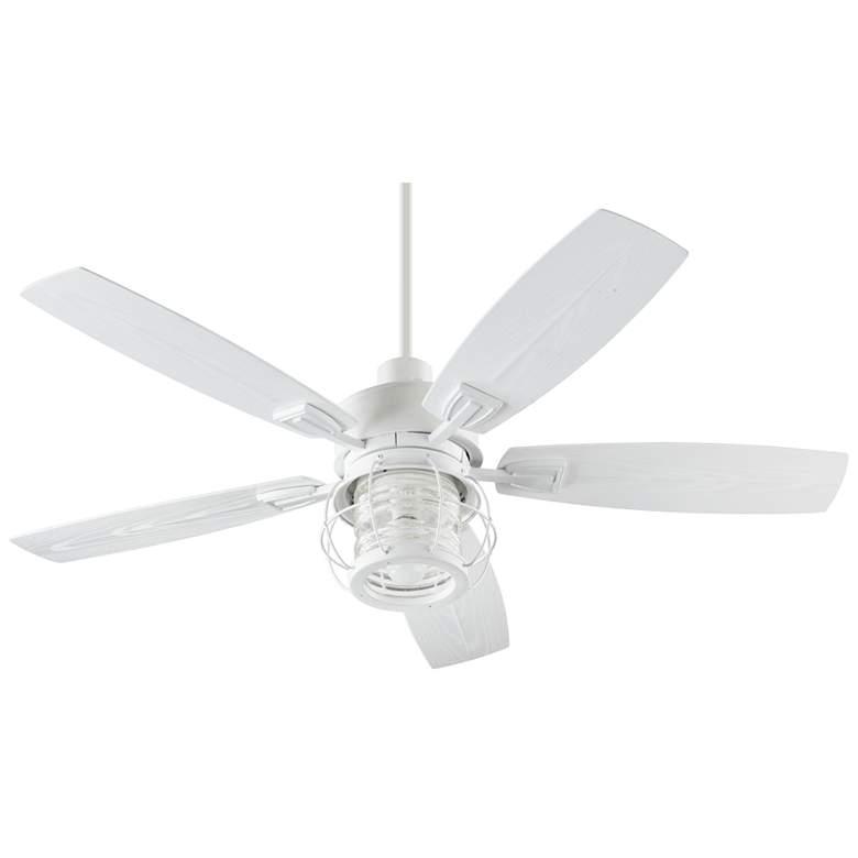 """52"""" Quorum Galveston Studio White LED Patio Ceiling Fan"""