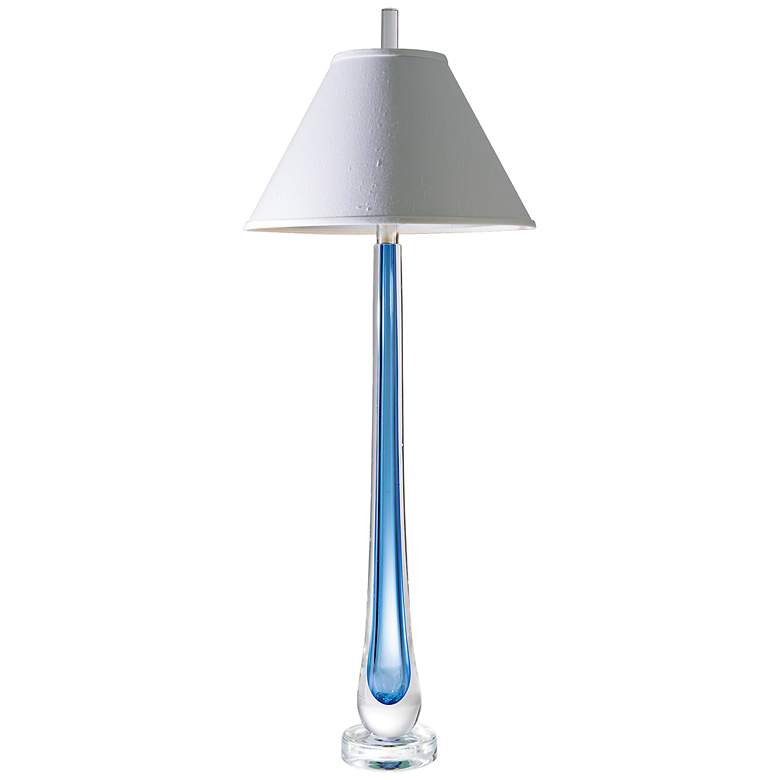 Captured Ocean Art Glass Buffet Lamp