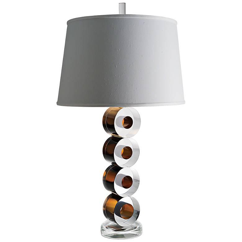 Leonardo Brown Art Glass Table Lamp