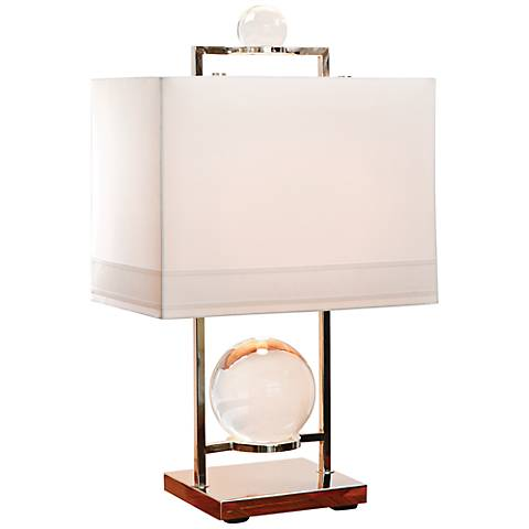 Fortune Teller Polished Stainless Steel Table Lamp