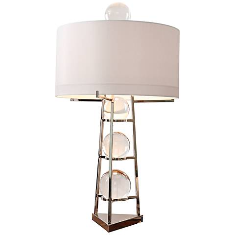 Fortune Teller Large Polished Stainless Steel Table Lamp
