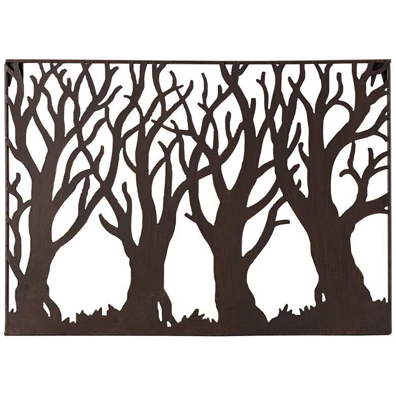 """Tree Silhouette 19 1/4"""" Wide Metal Wall Art"""