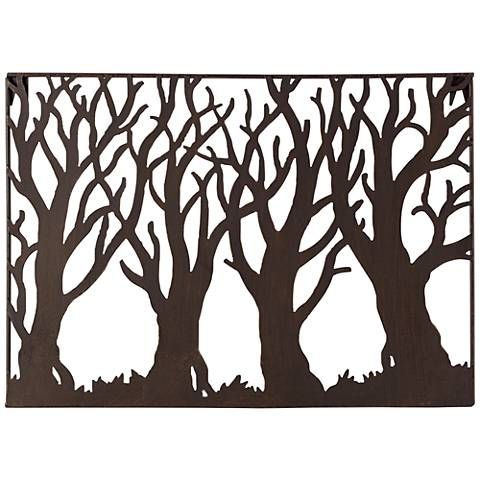 "Tree Silhouette 19 1/4"" Wide Metal Wall Art"