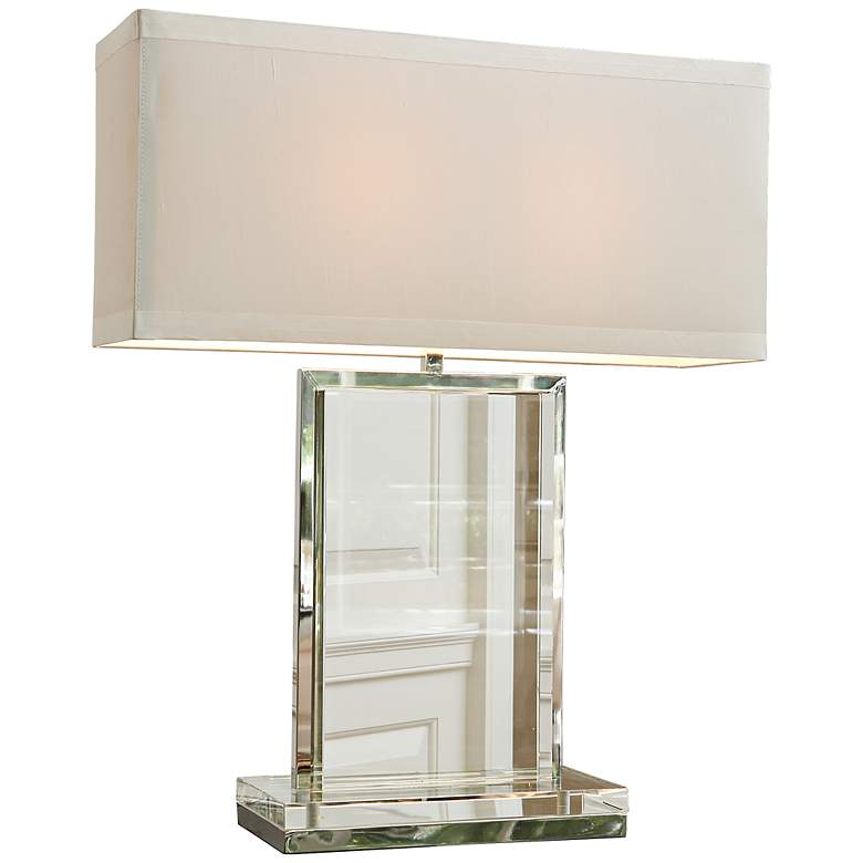 Clear Crystal Base Rectangular Table Lamp by Global