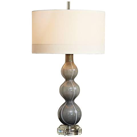 Cloud Dark Gray Art Glass Table Lamp