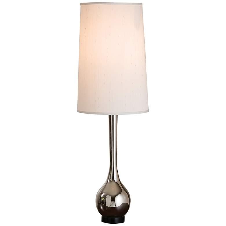 Contemporary Nickel Bulb Vase Table Lamp