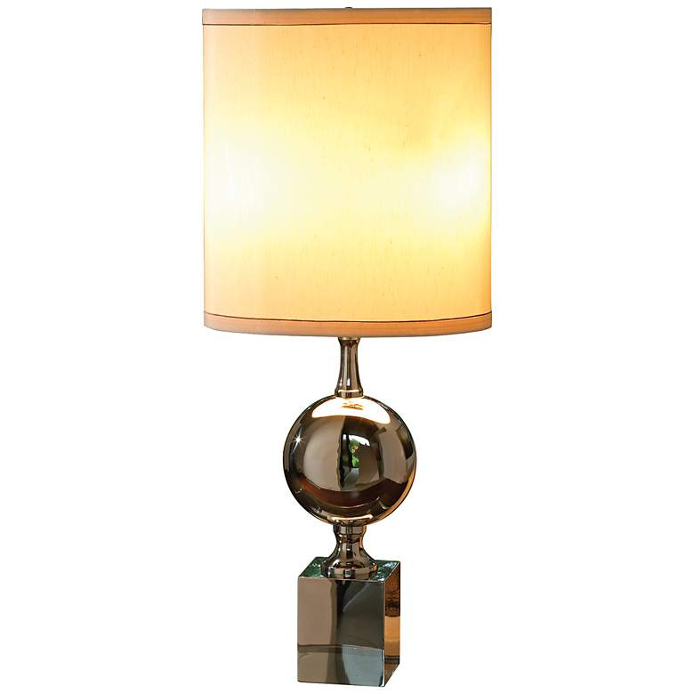 Pill Polished Nickel Table Lamp
