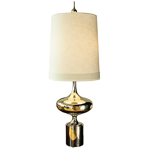 Extraterrestrial Polished Nickel Table Lamp