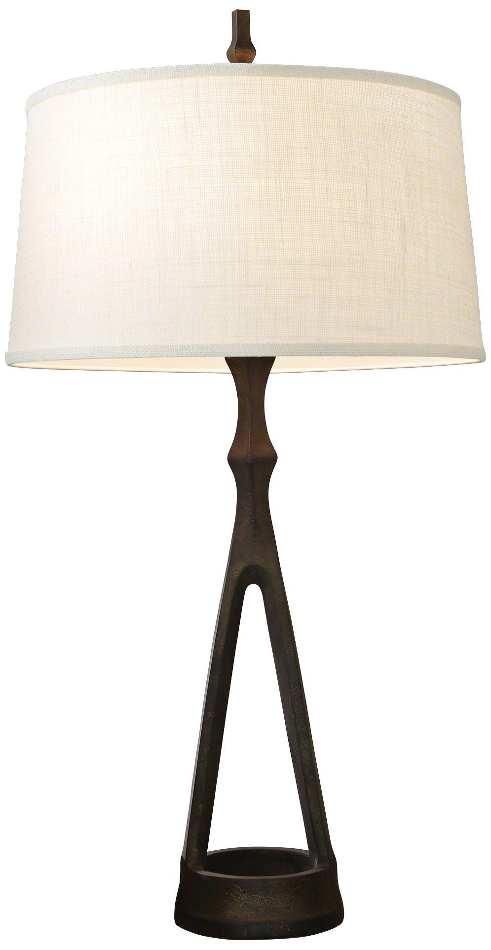 Compass Bronze Metal Table Lamp