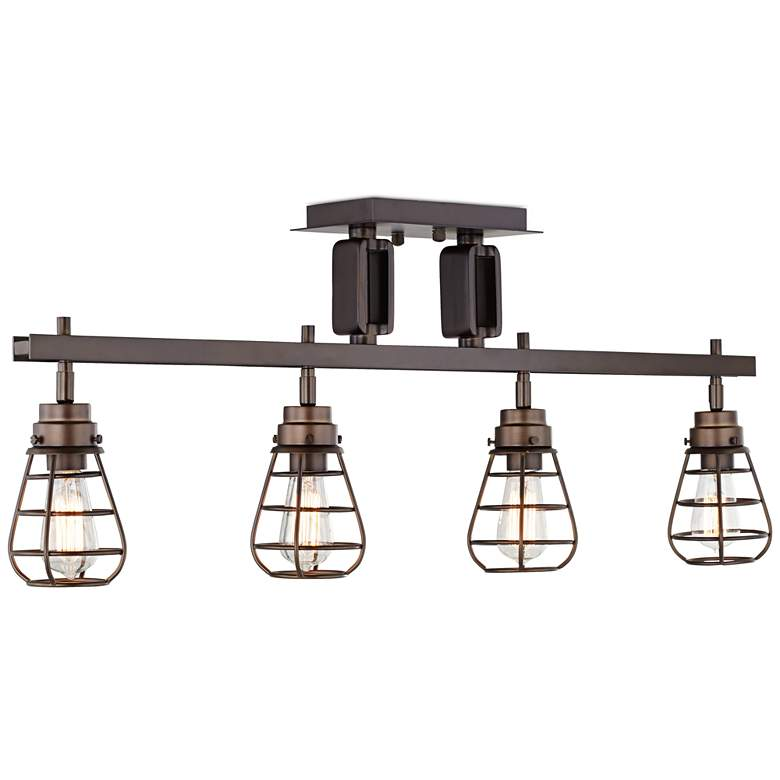 Pro Track® Bendlin Industrial 4-Light Bronze Track Fixture