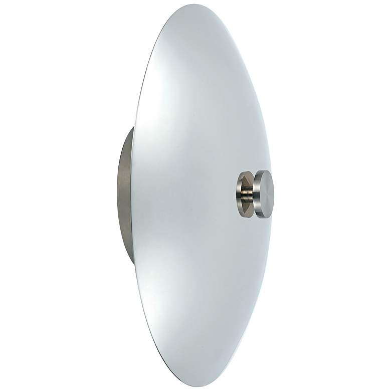 """Eclipse 12"""" High Polished Nickel Wall Sconce"""