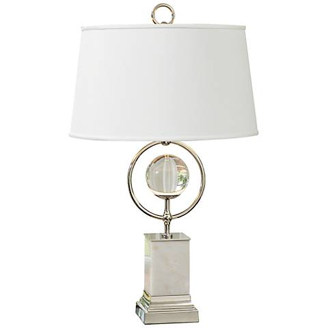 Antenna Marble and Nickel Table Lamp