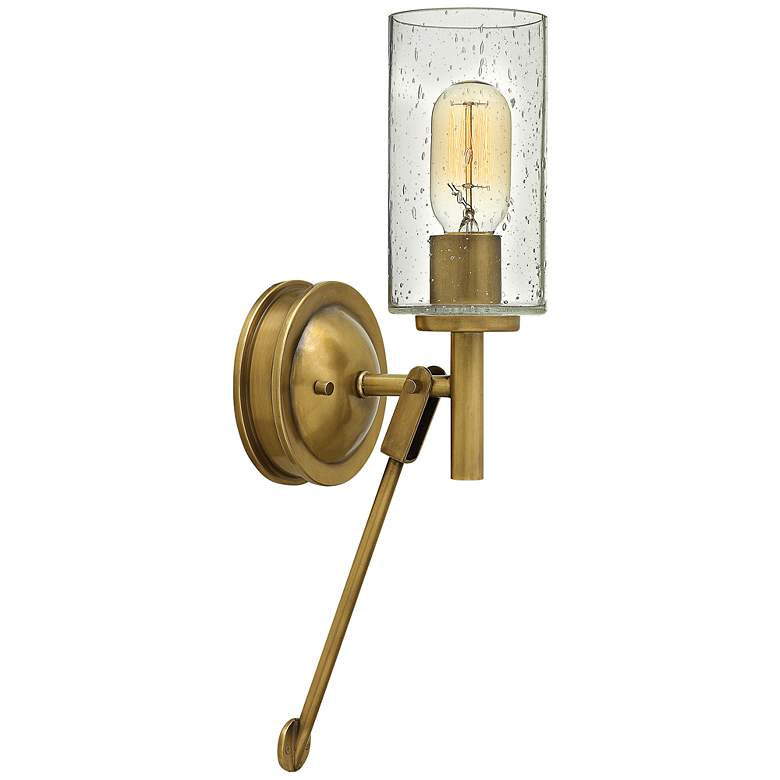 """Hinkley Collier 17"""" High Heritage Brass Wall Sconce"""