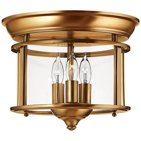 "Hinkley Gentry 11 1/2"" Wide Heirloom Brass Ceiling Light"